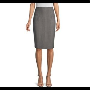 Nwt Rafaella pinstripe pencil skirt w/back pleats